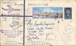 Pakistan 2000 Khanewal Eid-ul-Fitr End Of Ramadan Registered Postal Stationary Cover - Pakistan