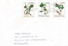 Malaysia 1999 Gutterworth Tinospora Vine Liana Solanum Turkey Berry Jathopha Shrub Flower Cover - Maleisië (1964-...)
