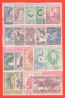 AUS SC #314-31 Used 1959-64 Definitives (complete Set F-VF) CV $12.30 - 1952-65 Elizabeth II : Pre-Decimals