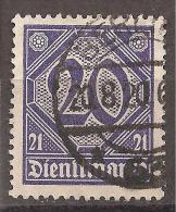 Deutsches Reich 1920 # Dienst - Michel 19 O - Service