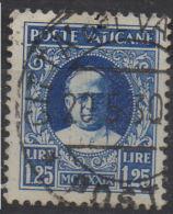 VATICANO  1929  Conciliazione  L. 1,25 Usato / Used - Usati