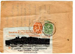 Fragment_Affranchissement à 8 Ctmes Type Blanc (22.12.1932)_Angers_Montrevrault - Postmark Collection (Covers)
