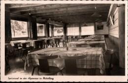 ! Alte Ansichtskarte Speisesaal In Der Alpenrose In Mittelberg, Kleinwalsertal, Vorarlberg, 1937 - Kleinwalsertal