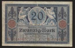 GERMANIA : 20 Mark 1915 - P63 - VF - [ 2] 1871-1918 : Empire Allemand