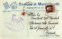 1935   CARTOLINA CON ANNULLO MONTELIBRETTI ROMA - 1900-44 Vittorio Emanuele III