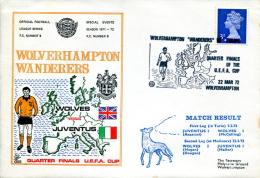 Souvenir Philatélique Wolverhampton Wanderers - Juventus De Turin - Soccer