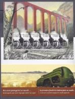 Belgium**TRAINS ON VIADUCT-SHEET 5stamps In SPECIAL FOLDER-2014-MNH-LOCOMOTIVE - Belgium