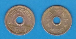 JAPÓN     5 YEN   1.985    Latón   Y#72a    MBC/VF        DL-11.099 - Giappone