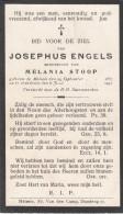 Engels Josephus - Stoop Melania * Melsele 1857 + 1941 Melsele Lot.132 - Images Religieuses