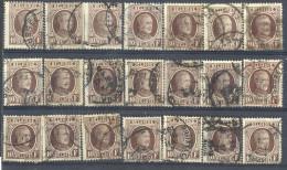 _4Zw672: Restje : 21 Zegels: N° 210:  De Topwaarde: 10,- F .... Om Verder Uit Te Zoeken... - 1922-1927 Houyoux