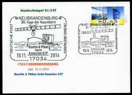 89928) BRD - SoST-Karte 21/347 - 17034 NEUBRANDENBURG Vom 15.11.2014 - Rosetta & Philae Beim Kometen 67P Raumfahrt - [7] République Fédérale