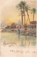 Souvenir De ...  Le Caire-Kafe Près Des Pyramides De Sakkarah - 1899 - Pyramides