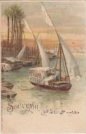 Souvenir De ...   Le Caire - Dhahabiyes Au Bord Du Nil - 1899 - Cairo