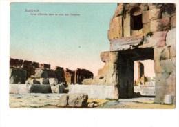 C P A--ASIE--BAALBECK--porte D´entrée Dans La Cour Des Temples--voir 2 Scans - Libano