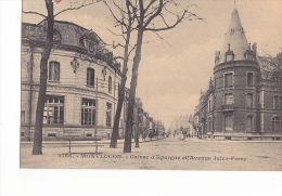 24235 -2cpa Montlucon, Grand Rue 52 GM - Caisse Epargne Avenue Jules Ferry -0166 Chaumont
