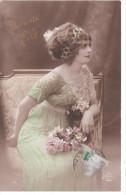 Carte Postale Ancienne Fantaisie - Femme - Bonne Fête - Fantaisies