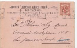 Calcio:Società Amatori Giuoco Calcio - TORINO- 1918- Rara Cartolina Di Convocazione - Other