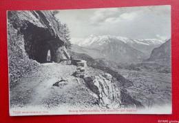 SUISSE - BRÜNIG - Hohfluhstrasse Mit Aussicht Auf Haslital  -  Recto/verso - Suisse
