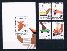 Antigua 1979 Kinder Mi.Nr. 538/41 Kpl. Satz + Block 42 ** - Antigua Und Barbuda (1981-...)