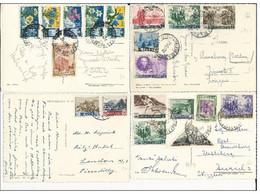 SAN MARINO - 1950/1954 - LOT De 4 CARTES Pour La SUISSE - BEL AFFRANCHISSEMENT - San Marino
