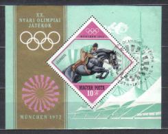 Hungary Mi Bl 91 Summer Olympics Horse Jumping Sheet 1972 FU - Estate 1972: Monaco
