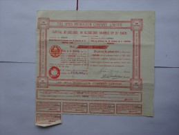 ACTION BOURSE  THE SPIES PETROLEUM COMPAGNY LIMITED 1927  AVEC COUPONS - Afrique