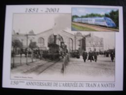Nantes - 150ème Anniversaire De L'arrivée Du Train (2001) - Nantes