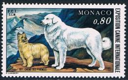 Monaco - Exposition Canine Internationale De Monte-Carlo, Chiens Des Pyrénées 1093 ** - Dogs