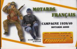 """- REDUX - Figurines """" Motards Français Campagne 1939/40 """" - 1/35°- Réf 35003 - Figurines"""