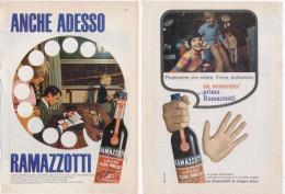 1967/8 -  Amaro RAMAZZOTTI  -  7  Pagine Pubblicità Cm. 13 X 18 - Manifesti