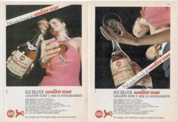 1967 -  Brandy CAVALLINO ROSSO  -  2 Pagine Pubblicità Cm. 13 X 18 - Manifesti