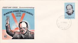 Australia 1965 Churchill  Wesley FDC - FDC