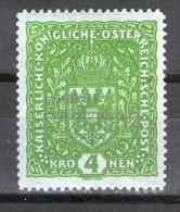 MC  1916 Autriche 4k mh* Y&T 160