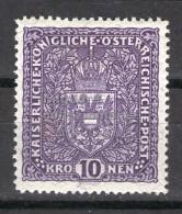 MC  1917 Autriche 10k mh* Y&T 161/l