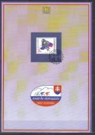 Slovakia FIRST DAY SHEET Mi 255 Cyclist Races Round Slovakia , Bicycle , Map  Flag 1996 - Ciclismo