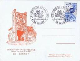 Premier Jour D Emission  Exposition Philattelique 68 Cernay - FDC