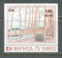 1974 REUNION ISLAND SISLEY PAINTING MICHEL: 507 MNH ** - Réunion (1852-1975)