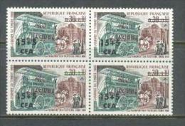 1969 REUNION ISLAND STAMP DAY MICHEL: 461 BLOCK OF 4 MNH ** - Réunion (1852-1975)