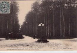 Forêt De Bercé.. Animée.. Rond De La Croix Marconnay.. Attelage.. Cycliste - France