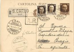 R704) V.E.III CARTOLINA POSTALE RACCOMANDATA 1940 - Interi Postali