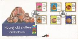 Zimbabwe 1993 Harare Ceramics Household Pottery FDC Cover - Zimbabwe (1980-...)