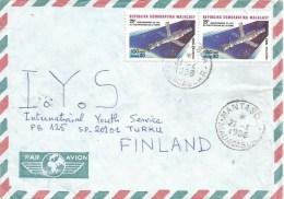 Madagascar 1988 Mantaso Space Station Sputnik Cover - Brieven & Documenten