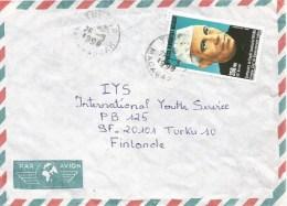 Madagascar 1990 Tulear President Nehru Cover - Madagaskar (1960-...)