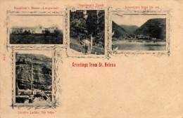 Carte Postale Ancienne 4 Vues De Ste Hélène , Neuve , 2 Scans - Saint Helena Island