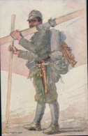 Militaire, Skiläufer, OKarte  Für Rotes Kreuz (515) - Personen