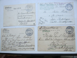 1905/1906 , 4 Feldpostkarten  An Verschiedene Schutztruppeneinheiten , Aus Deutschland - Colony: German South West Africa