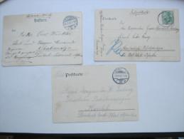 1905 , 3 Feldpostkarten  An Verschiedene Schutztruppeneinheiten , Aus Deutschland - Colony: German South West Africa