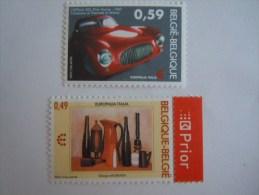 Belgi� Belgique Italie Italia 2003 Europalia Georgio Morandi porcelaine Pinin Farina auto 3205-3206 Yv 3194-3195 MNH **