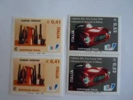 Italie Italia 2003 Europalia �mission avec Belgique Georgio Morandi Cisitalia Pinin Farina auto pair Yv 2664-2665 MNH **