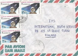 Madagascar 1989 Mahitsy Space Sputnik Cover - Afrika
